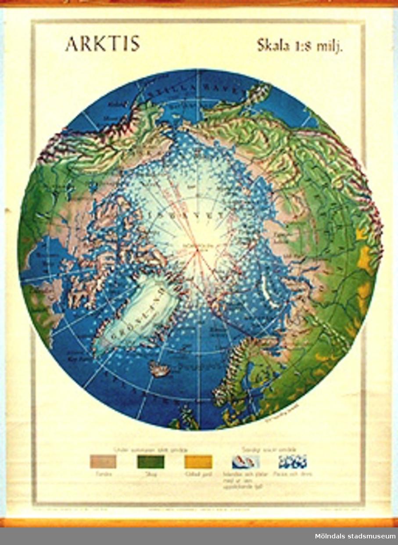 Skolkarta märkt nr 24.Arktis.