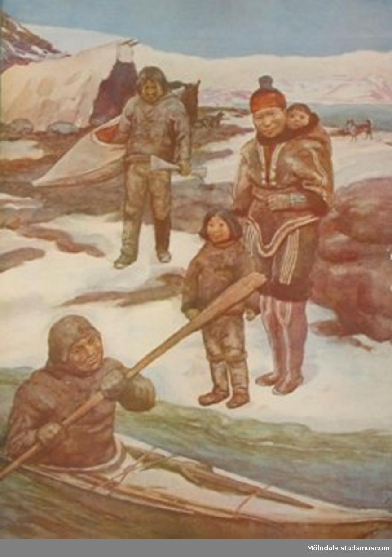 Nelson: Folklivsbilder.             Hos eskimåerna.
