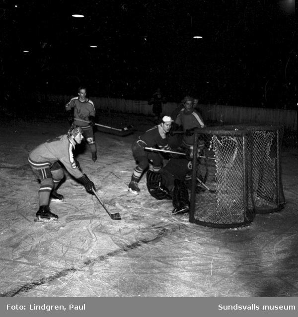 Ishockeymatch i Sundsvall.