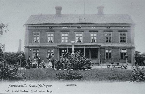 Herrgården vid Galtströms bruk. Vykort.