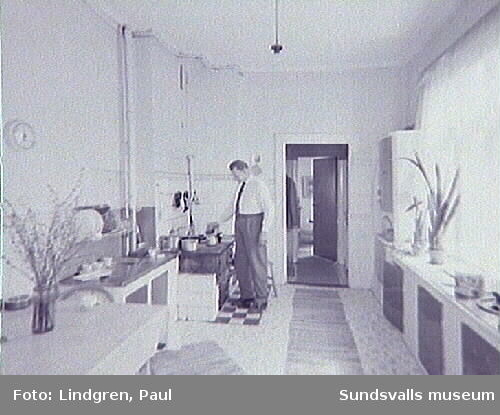 """Södra Allén 14, """"Villa Carlshem"""". Interiör."""