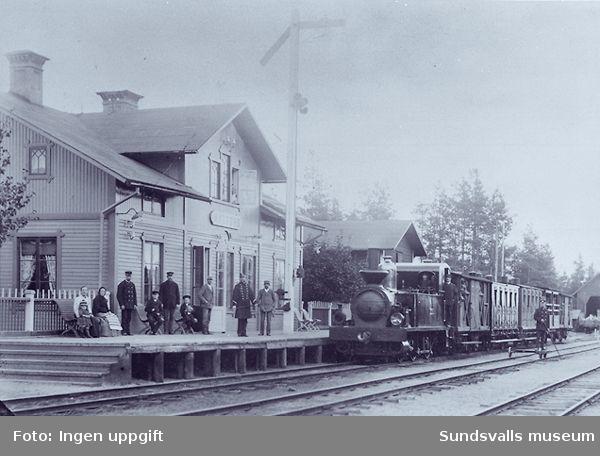 Matfors järnvägsstation.