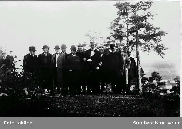 Gustav V på besök i Sundsvall.