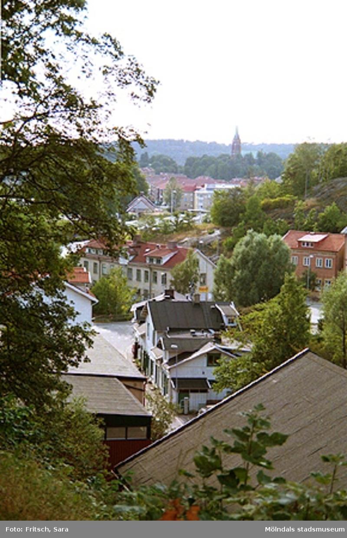 Stadsvy över Mölndals Kvarnby,1996.