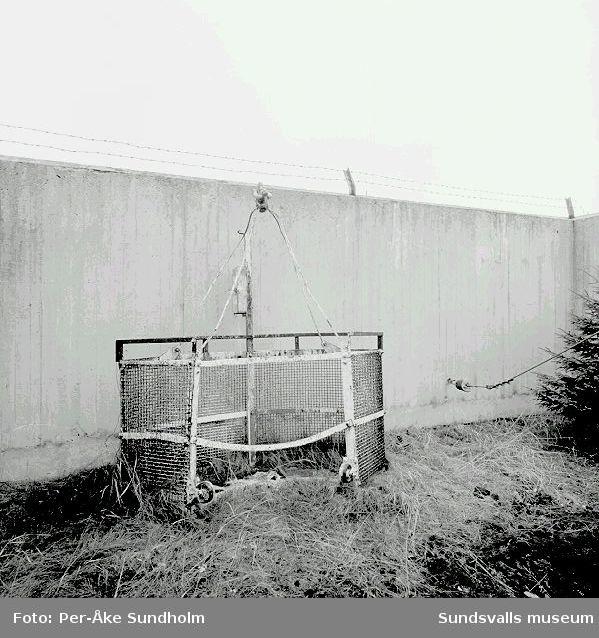 Dokumentation av Telias antennmaster innan rivning 1996-12-14.