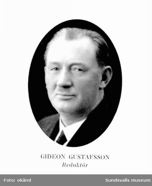 tidningsredaktör Gideon Gustafsson