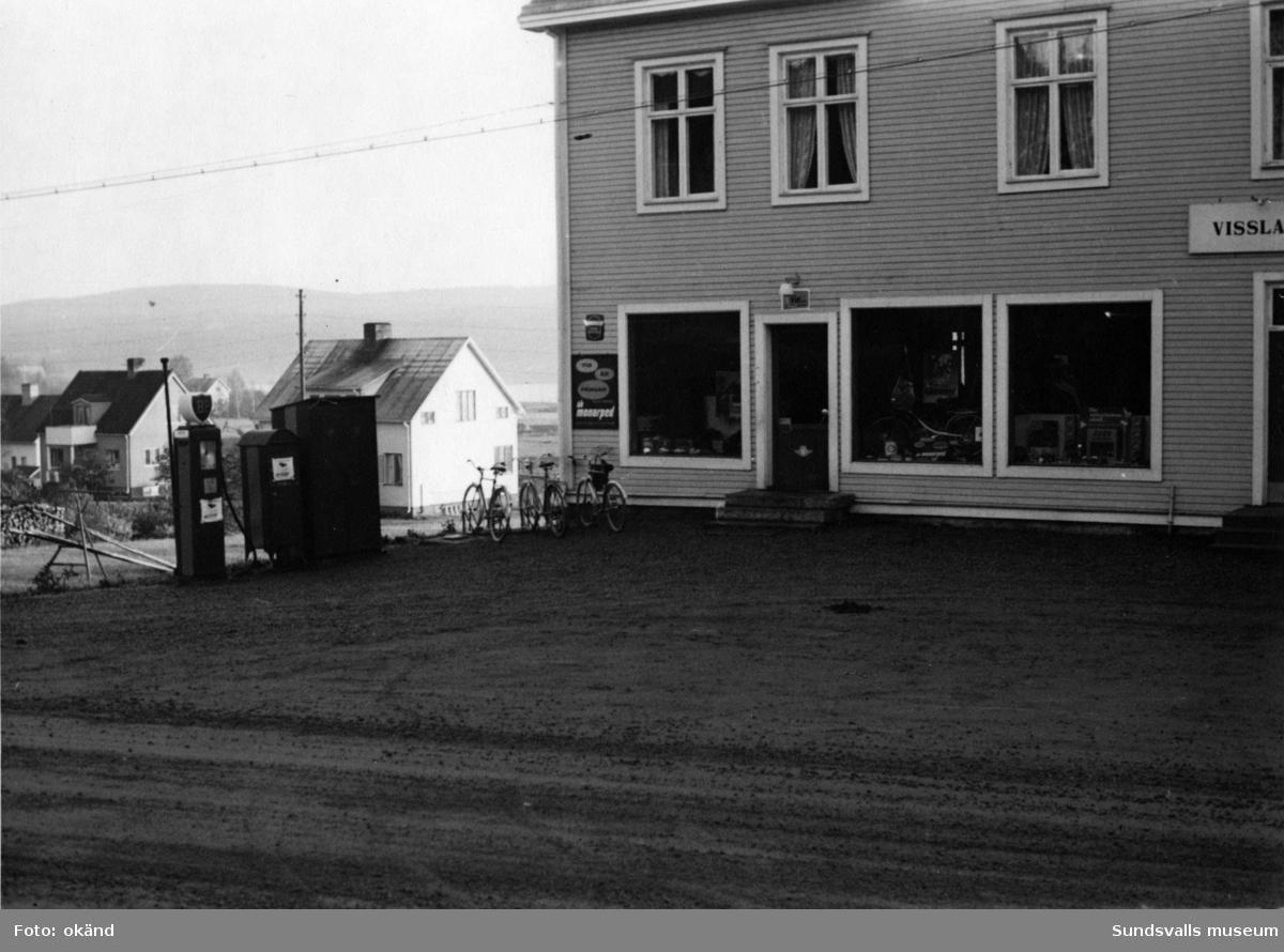 BP-stationen Fränsta, Ånge. Köpman. P.A. Löfstedt