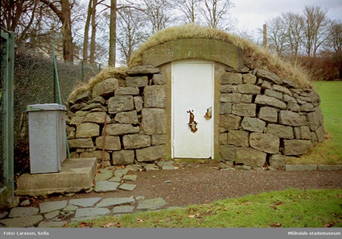 Jordkällare till Tibellska villan/Schillers villa (byggnad 203) på Nämndemansgatan 11 (tillhörande Papyrus).