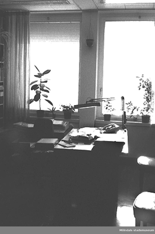 Mölndals stadshus. Interiör: Ett kontor.