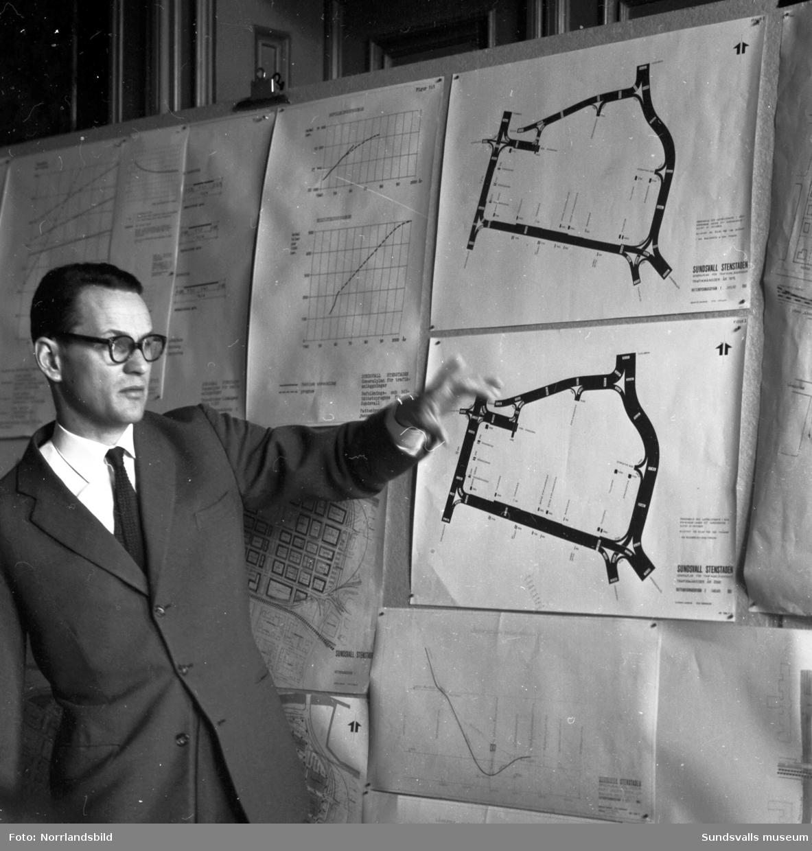 Ny planlösning för gator och parkering, modell och kartor.