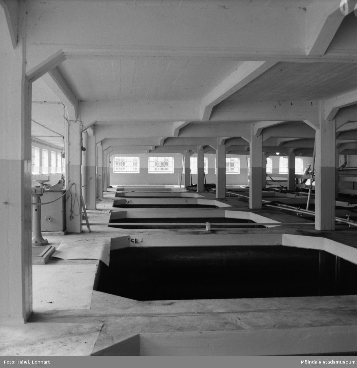Interiörfotografi från vattenreningen på Papyrus i Mölndal, 6/5 1955.