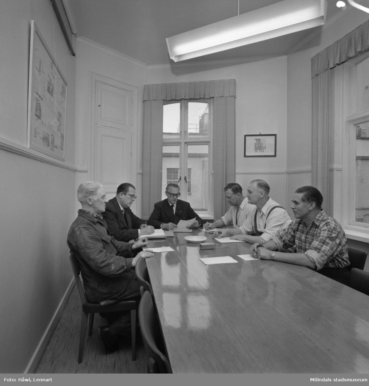 Förhandlingsdelegationen på Papyrus i Mölndal, 23/10 1956.