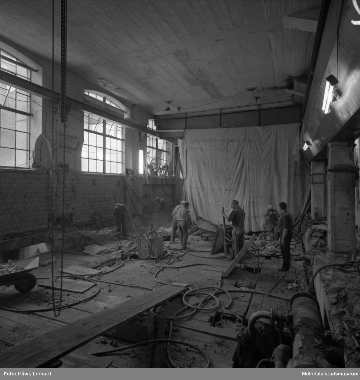 PM12 under ombyggnad på Papyrus i Mölndal, 1/6 1961.