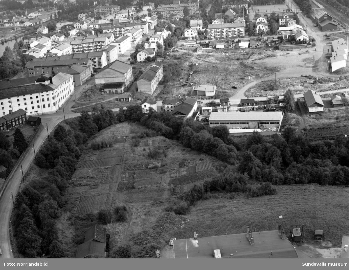 Flygfoto över Grönborg, Västermalm, taget österut.