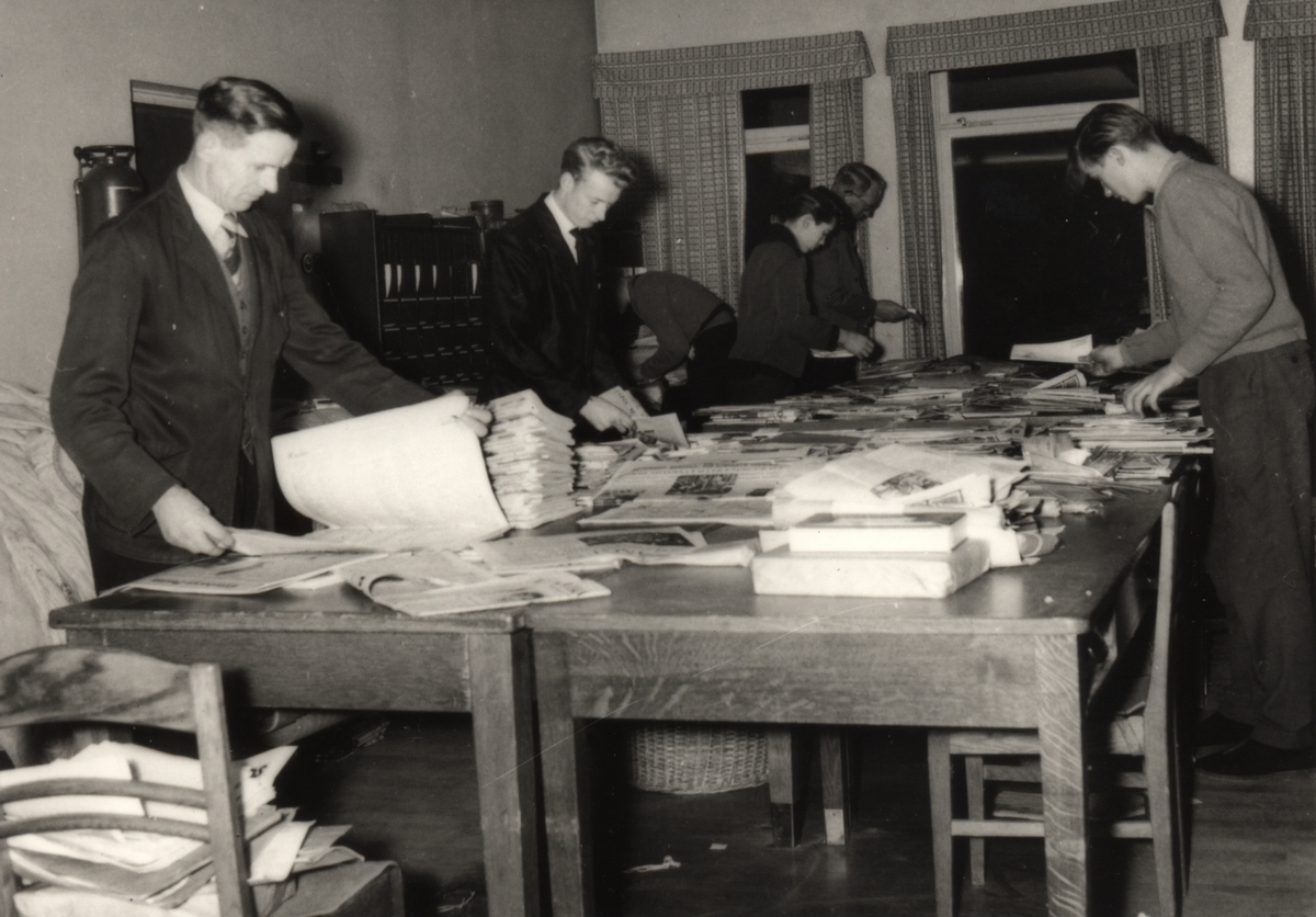 Postpersonal på postkontoret i Tidaholm år 1961.