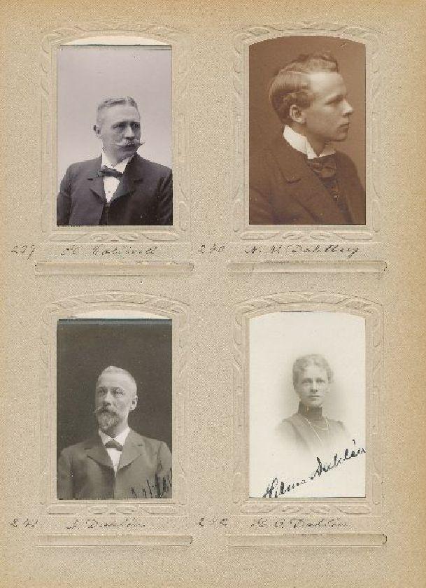 Porträtt av Nils Martin Dahlberg, extra postexpeditör i Östersund, ca 1915.