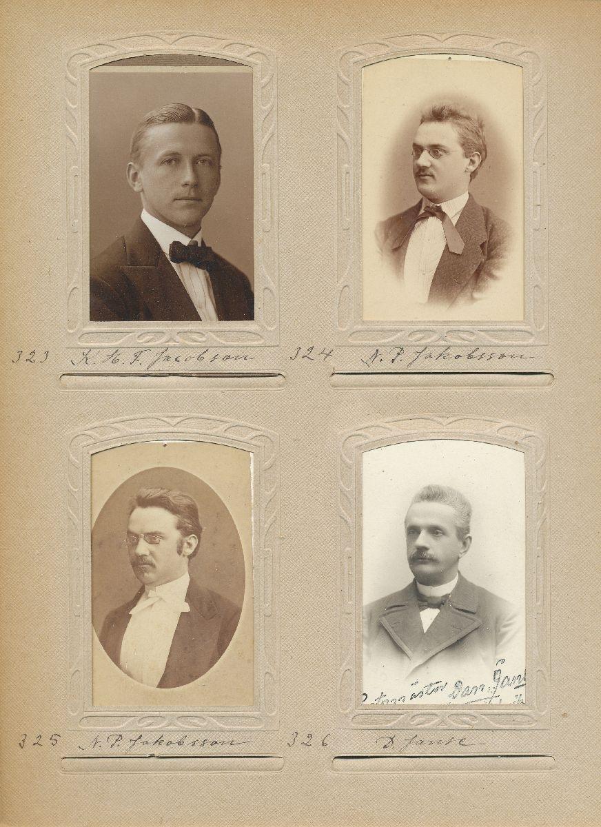 Porträtt av Daniel Janse, postmästare i Örnsköldsvik 1879-1912.