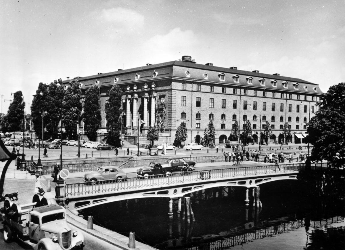 Postkontoret Göteborg 1, Drottningtorget, 1954.