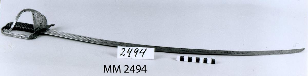 Sjöofficerssabel m/1770-1780-talet (Carl XIII). Kroksabel.