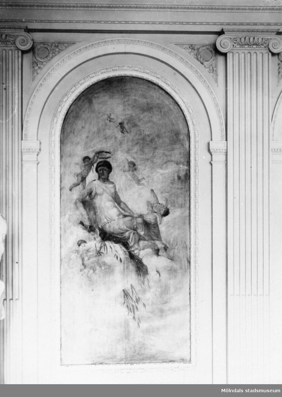 Väggmålning i stora salongen på Gunnebo slott, 1930-tal.