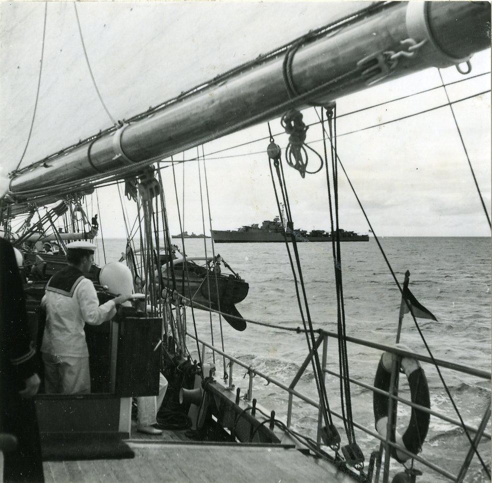Skolfartyget Gladan i England 1948.