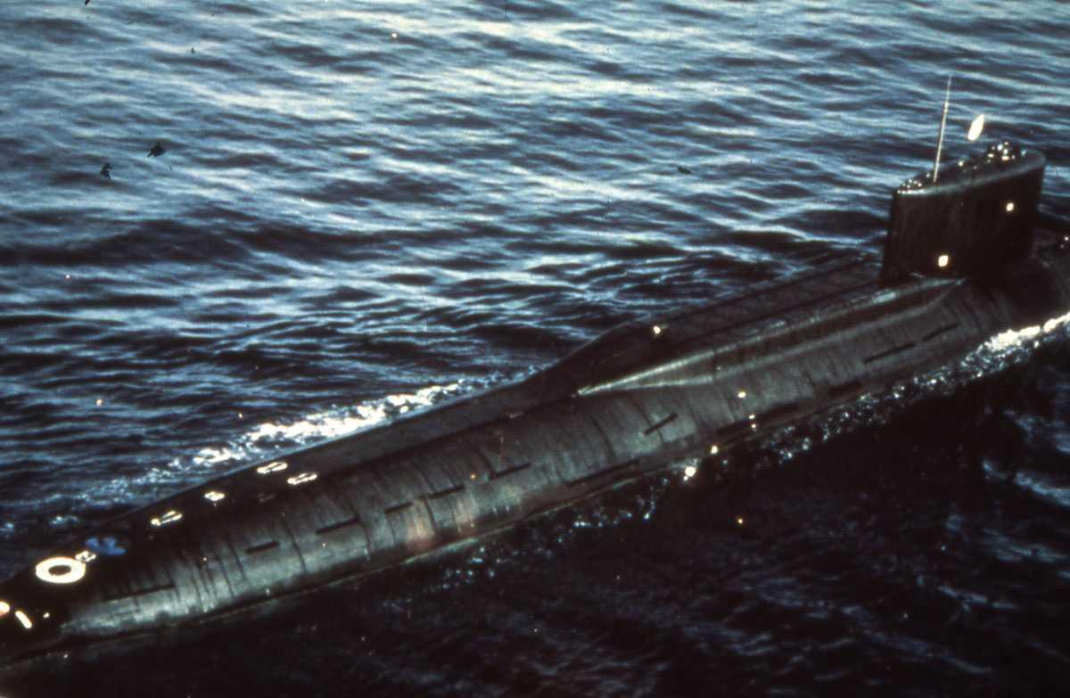 Russisk ubåt av Yankee - klassen.
