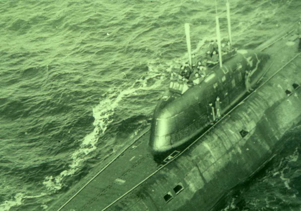 Russisk ubåt av Victor II - klassen.