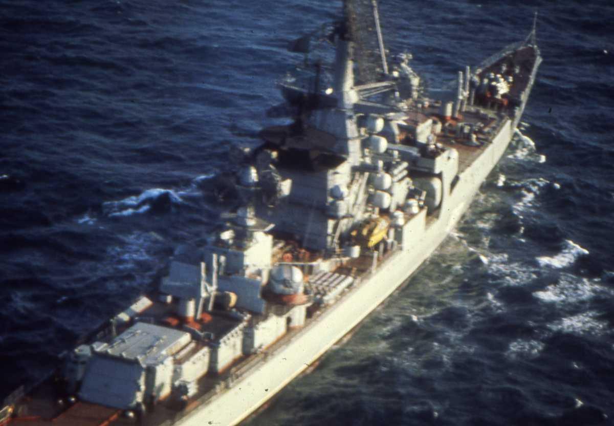 Russisk fartøy av Kresta II - klassen.