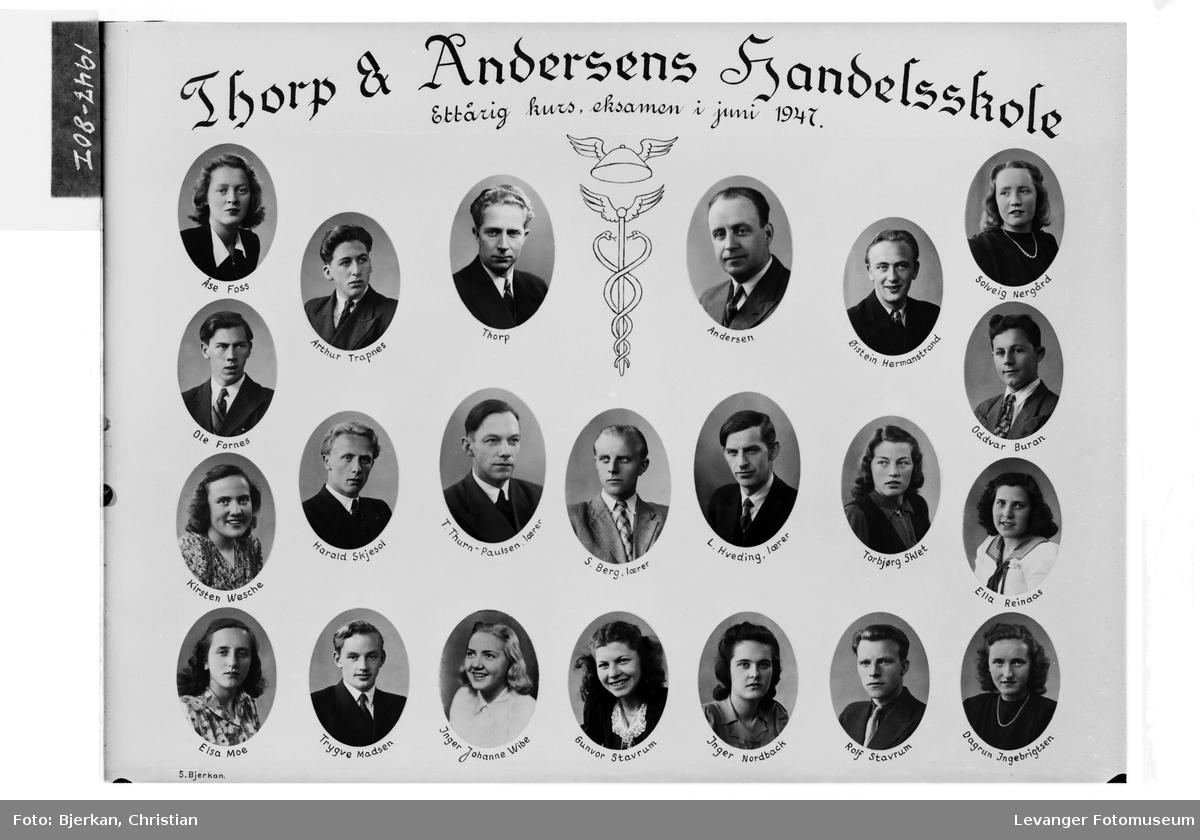 Thorp & Andersens Handelsskole, 1947
