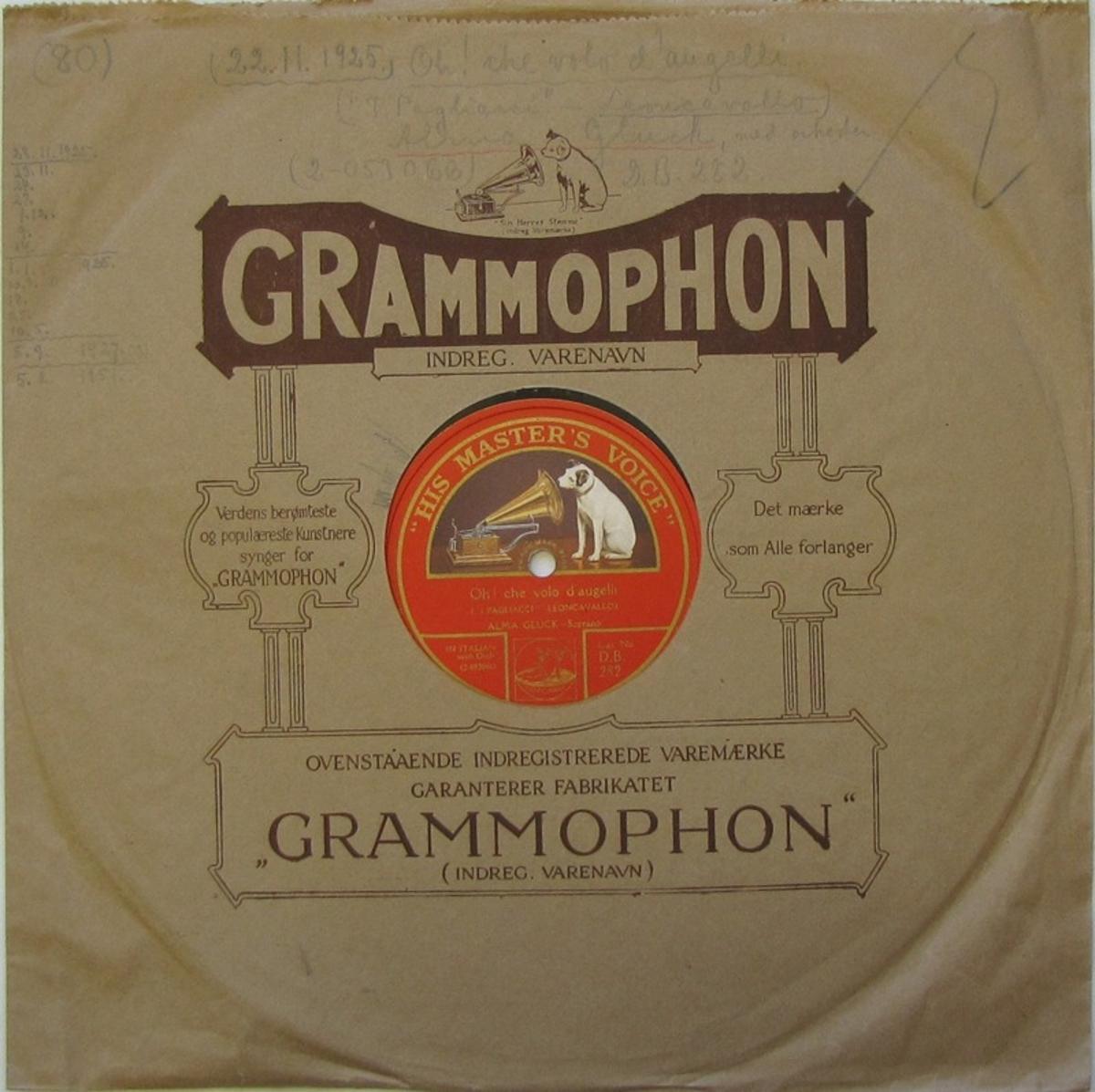 Vinylskiva av märket His Master's Voice