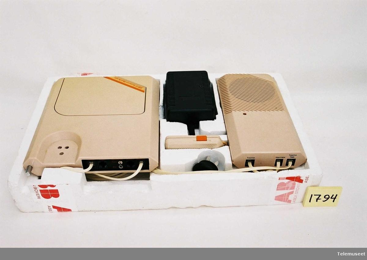 Hovedenhet KDTR 20101/13 Høytalerenhet KDYR 10202/13 AC/DC Adapter Kontrollenhet