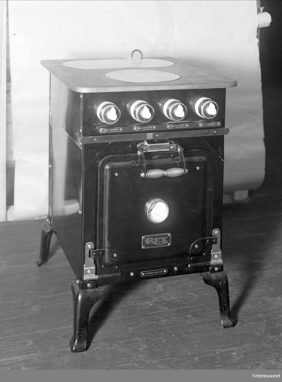 Rex komfyr type E. Elektrisk Bureau.