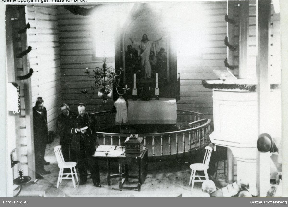 """Leka, """"Kongevalget"""" i Leka Kirke"""