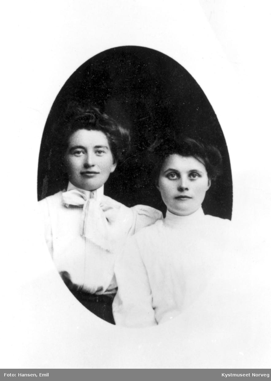 Ukjent kvinne sammen med Hanna Gravset