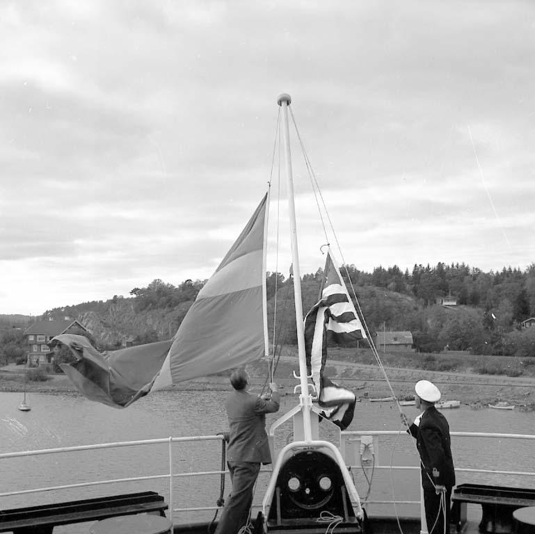"Enligt notering: ""Flaggskifte på Parkhurst Sept -60""."