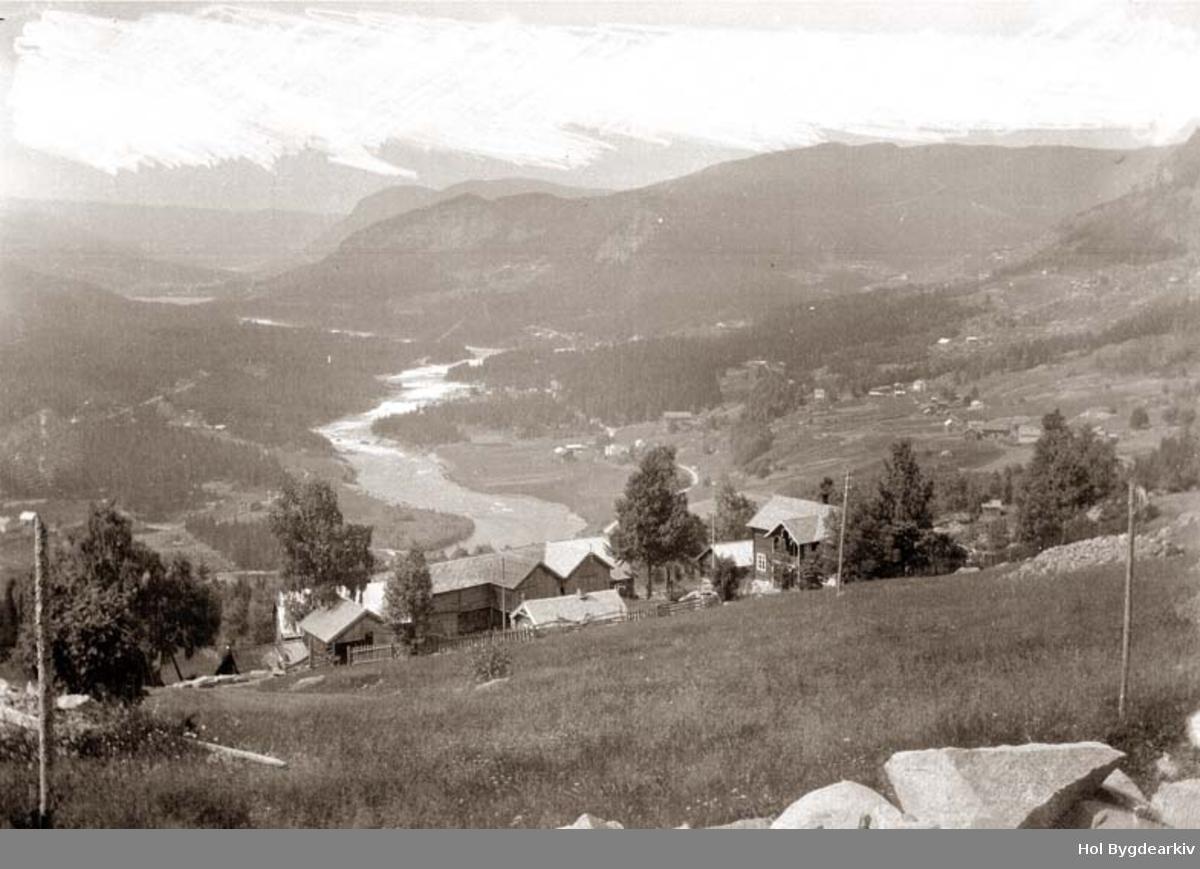 Landskap, Ål, Grend, Gullhagen, gardsbruk, Hallingdalselva