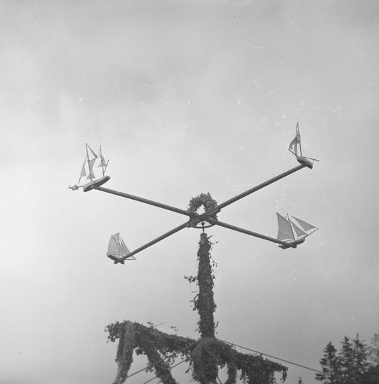 Midsommarstången i Kungsviken, 1950-tal