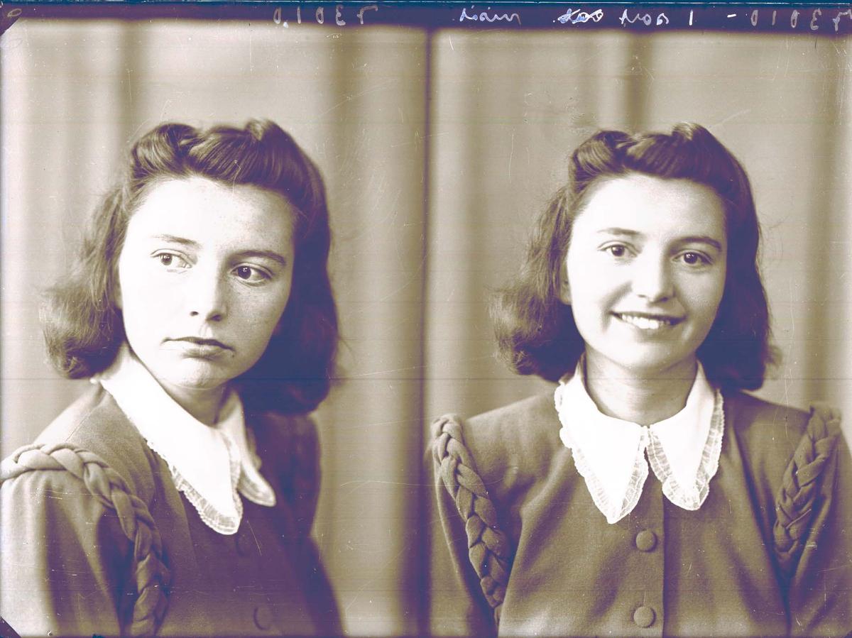 Portrett av en ung dame.