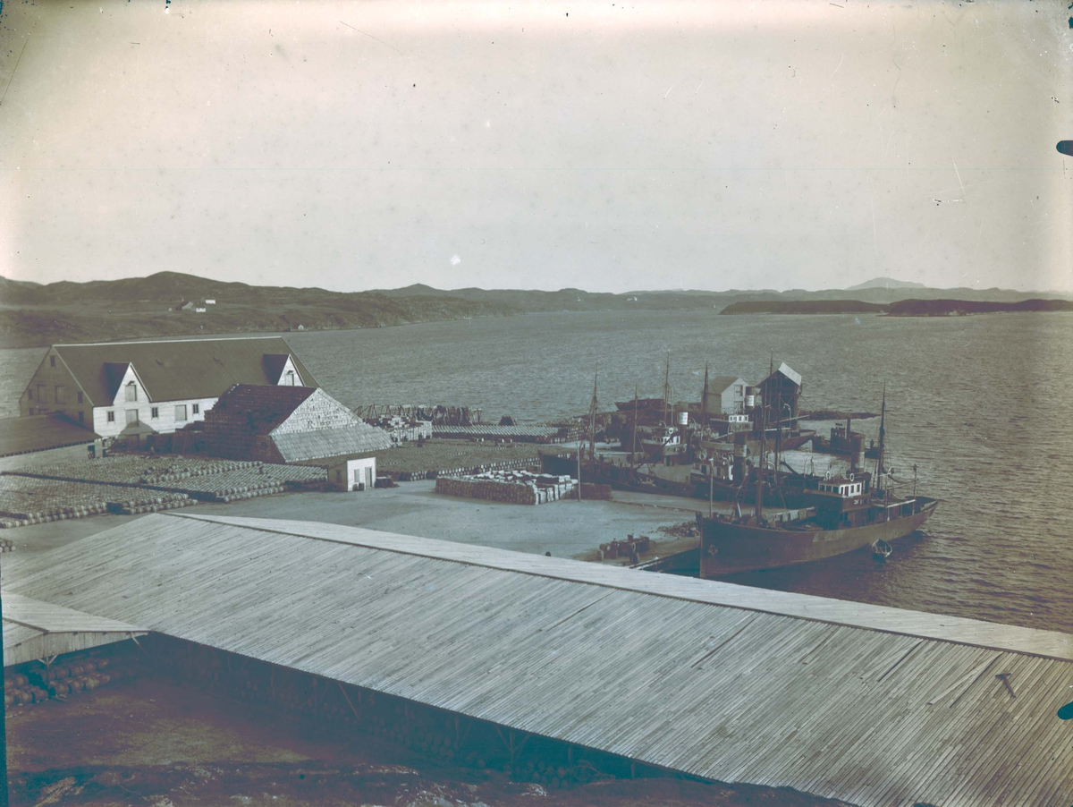 Landskap - Sjøhus med stort tønnelager.