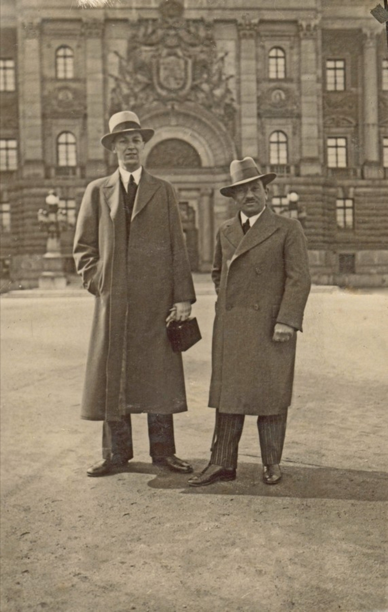 Stener Askeland og Moritz Rabinowitz i Finland