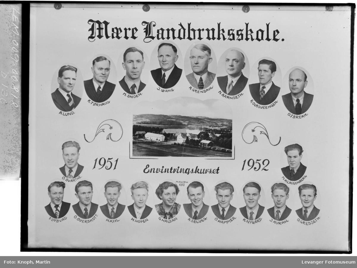 Mære Landbruksskole, 1951-52. Envintringskurset.