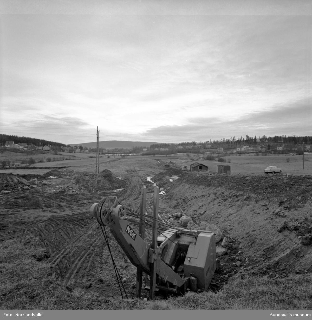 Motorvägsbygget i Skön är påbörjat i Bydalen.