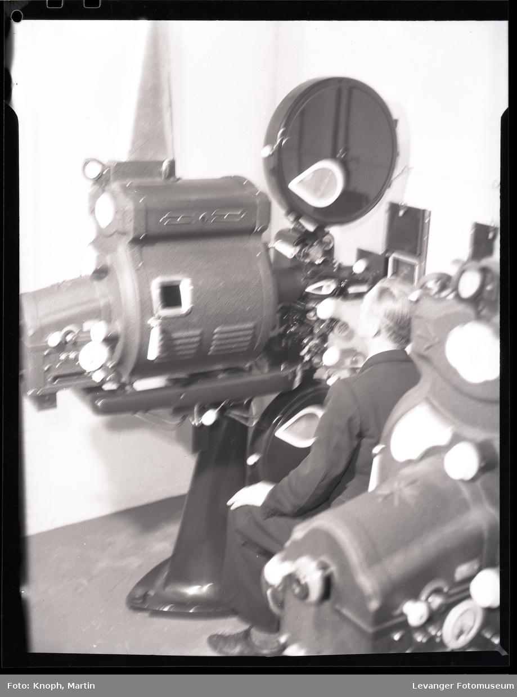 Maskinrommet ved kinosalen i Steinkjersannan