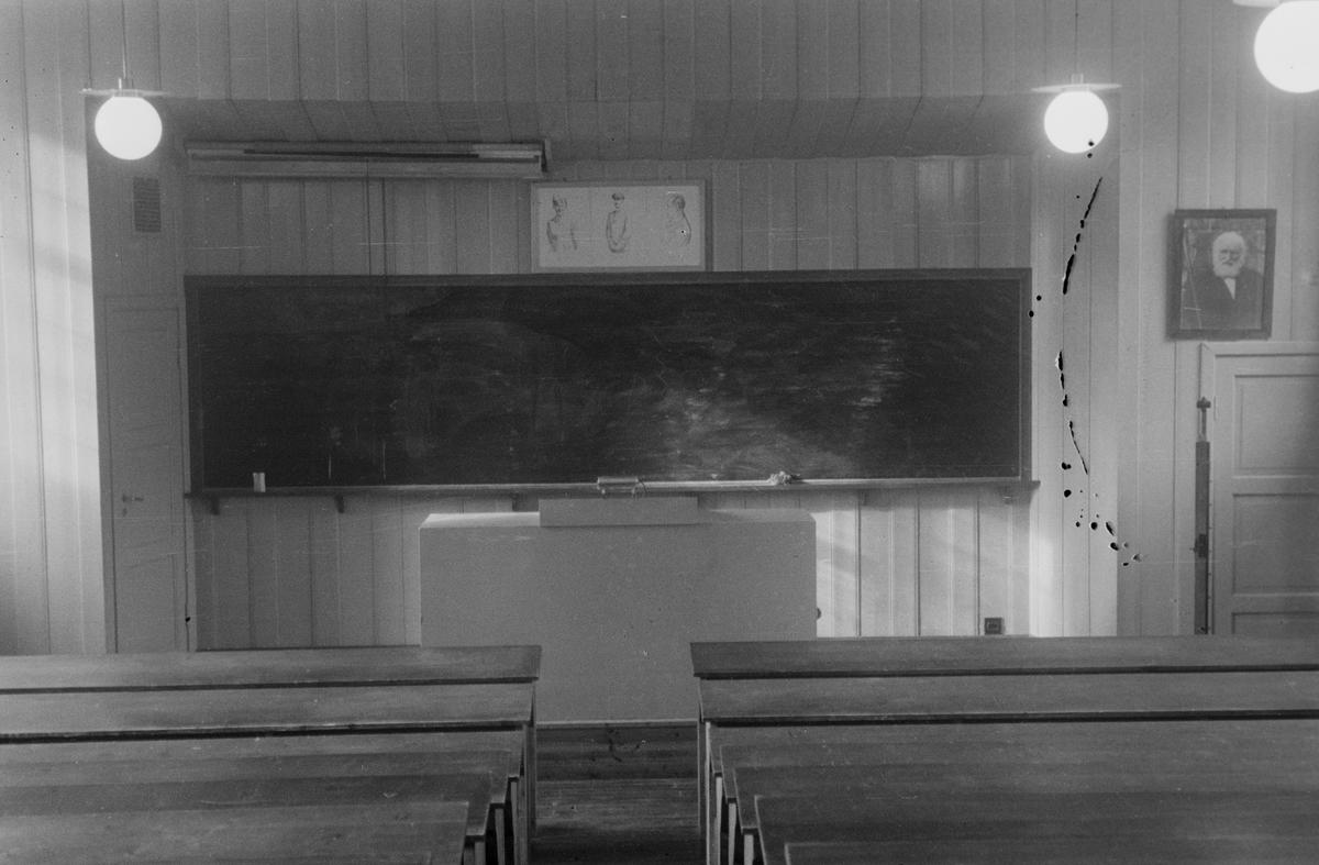 Elverum Folkehøyskole. Interiør.
