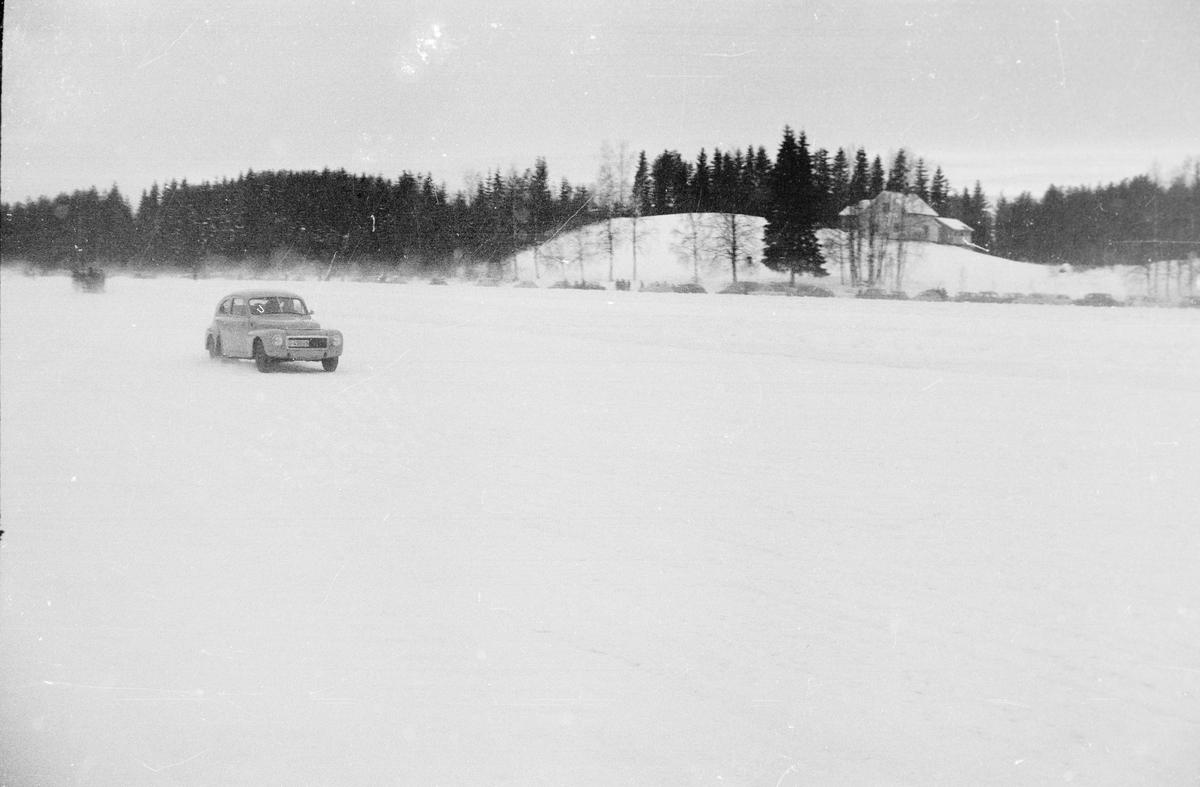 Billøp på Lisjøen i februar 1963. Elverum. Gunnar Hagerud, Kongsvinger.