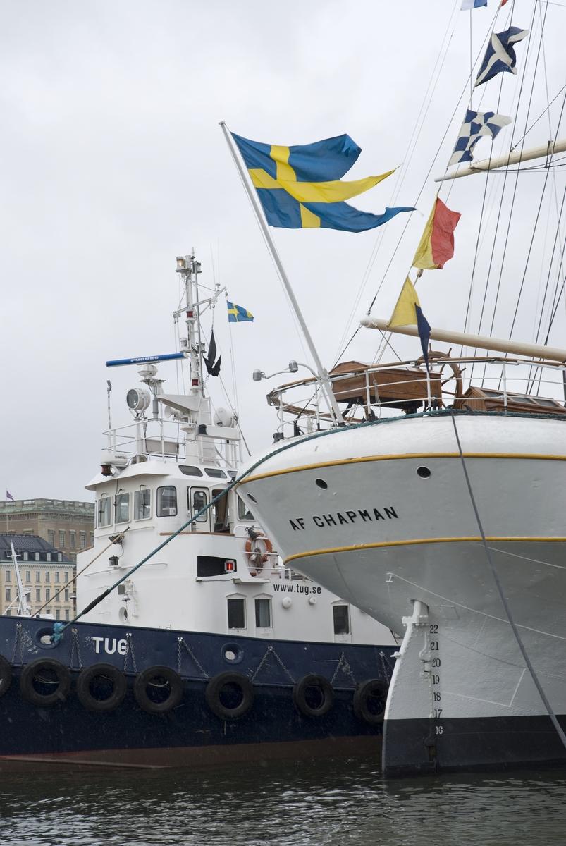 Återinvigning av af Chapman tillbaka på Skeppsholmen 9 april efter renovering
