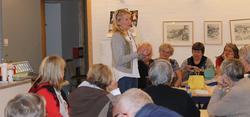 Kragerø Husflidslags møte den 31.09.2014 med Ellen Ørnes. Te