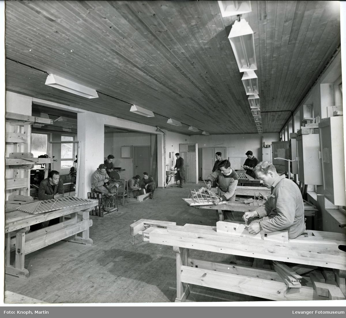 Tømrerverkstedet ved Inntrøndelag Yrkesskole