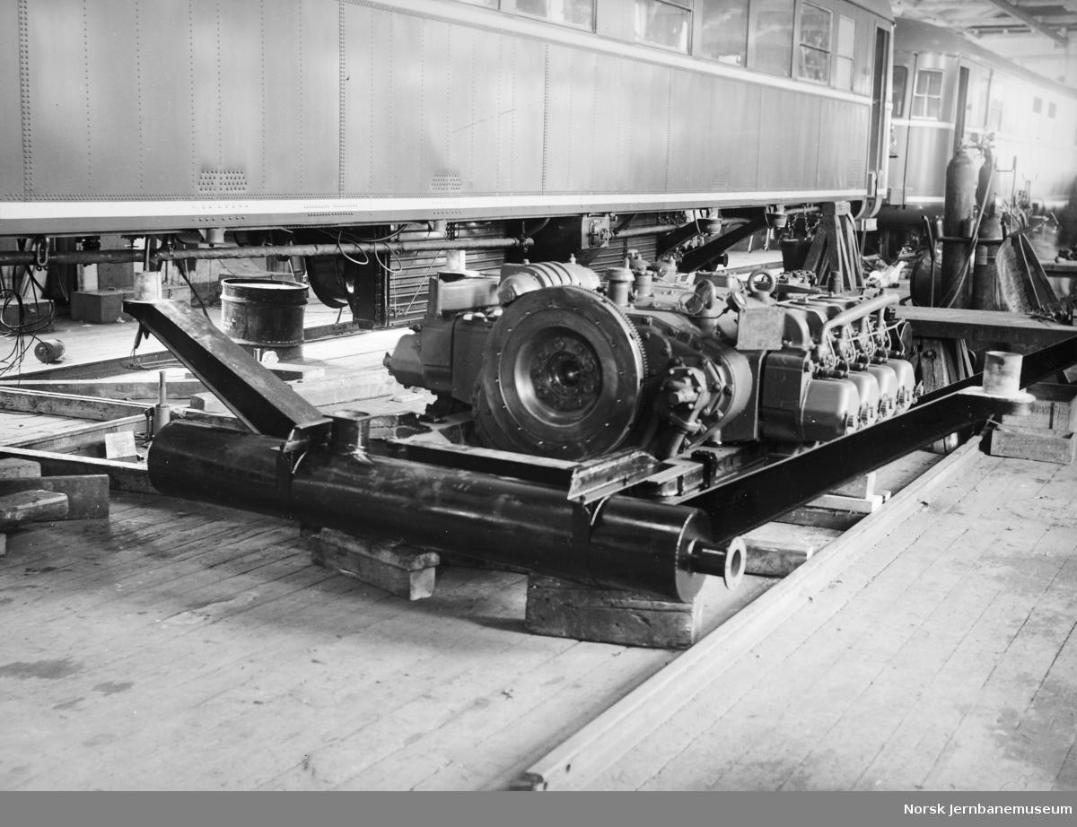 Bygging av dieselmotorvogner type 6 (86) - motorer klare til montering