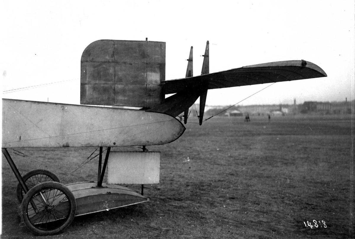 Ett fly på bakken, Voisin Canard. Halepartiet